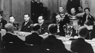 Lors du transfert de souveraineté de l'Indonésie, le 27 décembre 1949.