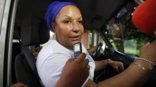 A ex-senadora colombiana Piedad Córdoba, da delegação que participou do resgate do jornalista francês Romeo Langlois, capturado pelas FARC em 28 de abril.
