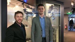 Eduardo Núncio (esquerda), diretor do Salão Design, e Eduardo Trapp Santarossa, consultor de Inteligência Comercial no Sindmóveis de Bento Gonçalves (RS).
