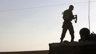 Un soldat israélien près de la frontière avec la bande de Gaza le 21 Août 2014.