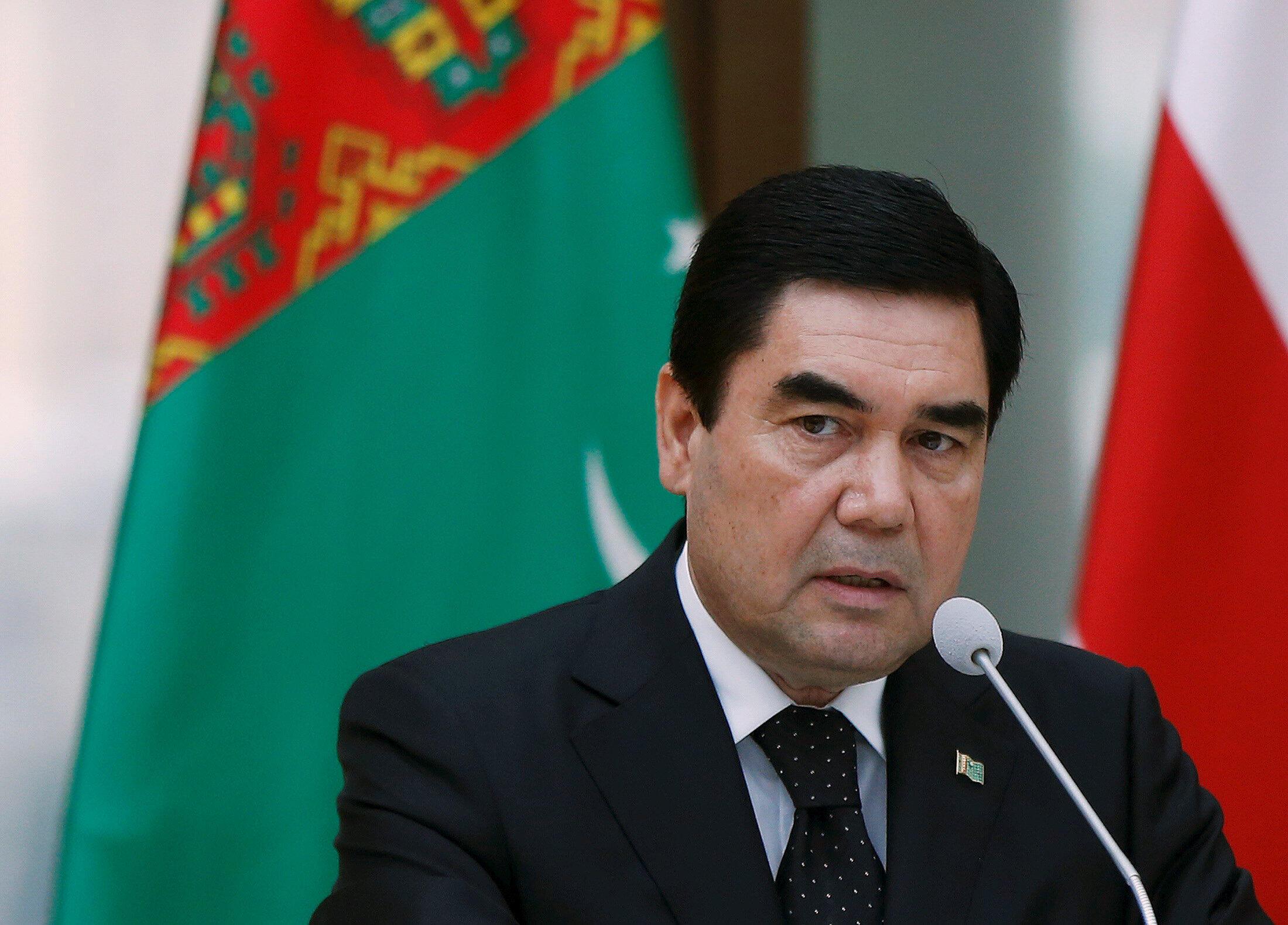 Туркменский президент Гурбангулы Бердымухамедов во время визита в Грузию 2 июля 2015