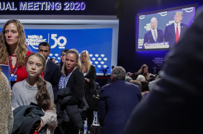 Greta Thunberg, nữ sinh Thụy Điển một đại biểu của phong trào đấu tranh vì khí hậu, bên lề Diễn đàn Kinh tế Davos, Thụy Sĩ, ngày 21/01/2020.