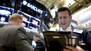Traders à Wall Street.