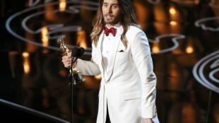 Джаред Лето на церемонии Оскаров 2 марта 2014 г.