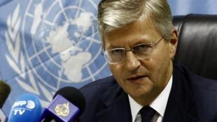 Jean-Pierre Lacroix, chef des opérations de maintien de la paix à l'ONU. Ici, le 20 juillet 2017.