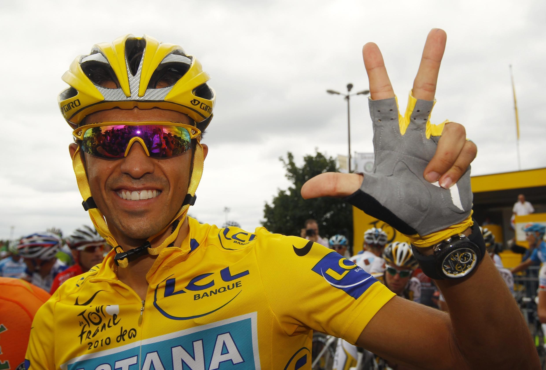 O Espanhol Alberto Contador.