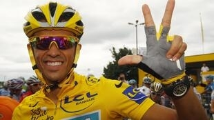 Three time Tour de France champion Alberto Contador