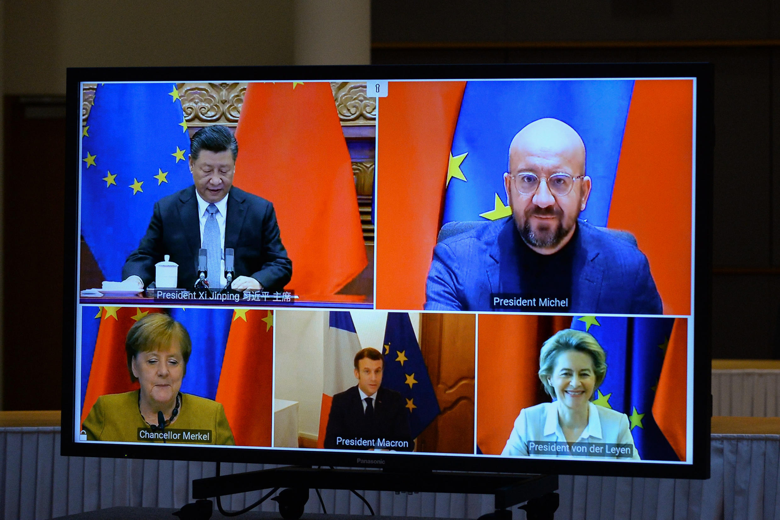 EU leaders and China's Xi Jinping thrashed out the deal in a video conference
