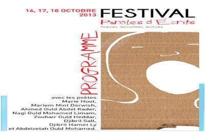 L'affiche du festival «Paroles d'écrits» en Mauritanie.