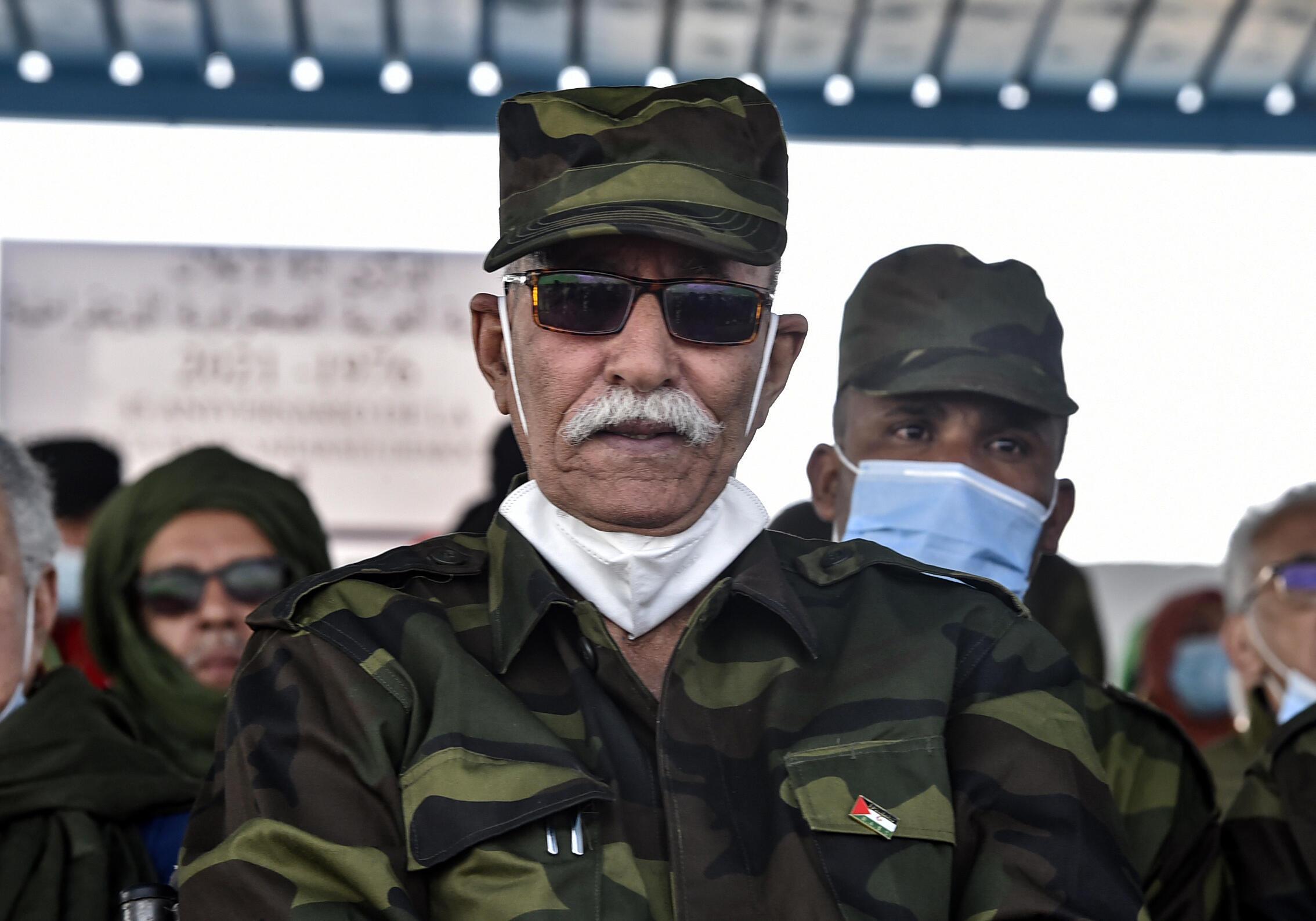 El líder del independentista Frente Polisario saharaui, Brahim Ghali, el 27 de febrero de 2021 en Tinduf, Argelia