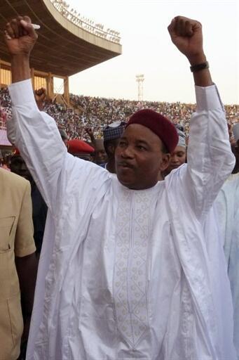 Mahamadou Issoufou, leader de l'opposition nigérienne, le 8 mars 2011.