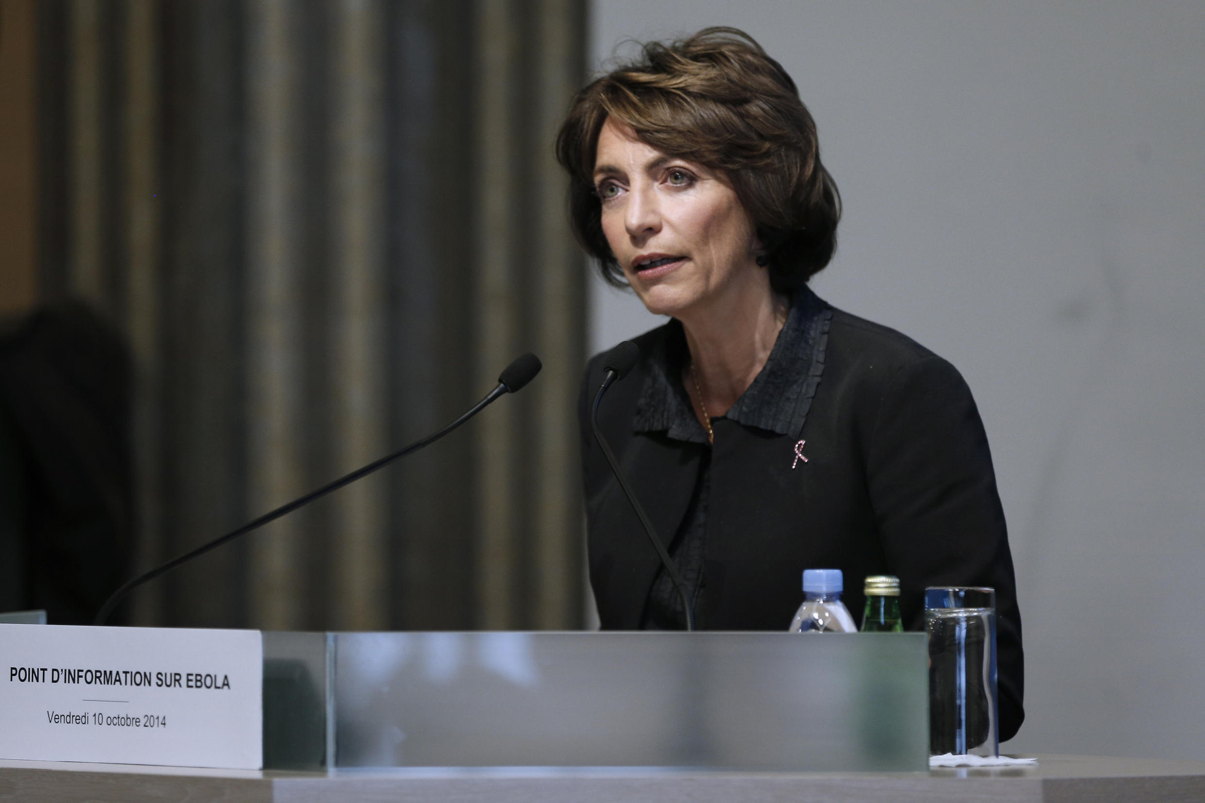 Health Minister Marisol Touraineat her press conference about Ebola on Friday