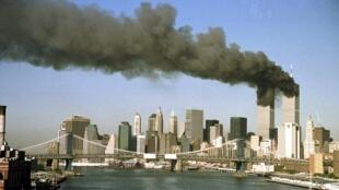 L'attentat du 11-Septembre, à New York.