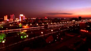 河南济源市夜色