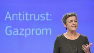 Margrethe Vestager, la commissaire européenne à la concurrence le 24 mai 2018 à Bruxelles.
