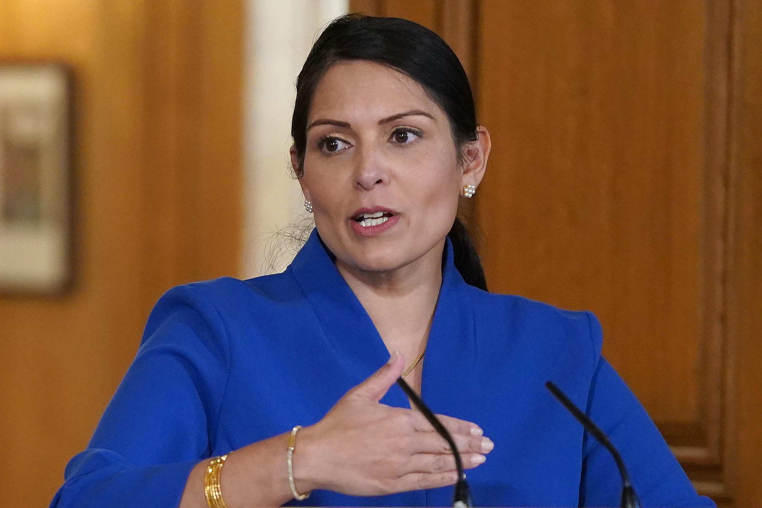 Britain's interior minister, Priti Patel, said new quarantine rules for travellers entering Britain were aimed at ensuring that there was not another massive wave of coronavirus infections.