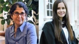 Fariba Adelkhah (à esq.) e Kylie Moore-Gilbert estão presas no Irã sob acusação de espionagem