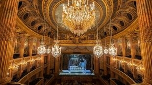 This photograph taken on October 2, 2019 shows the Royal Opera of the Chateau de Versailles, west of Paris.