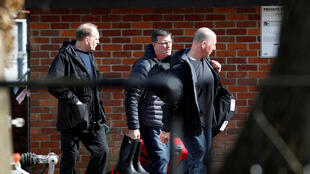 Des inspecteurs de l'OIAC à Salisbury sur les lieux de l'attaque au poison contre l'ex-espion Sergueï Skripal et de sa fille, le 21 mars 2018.
