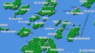 Ilhas Canhabaque e João Vieira no arquipélago dos Bijagós
