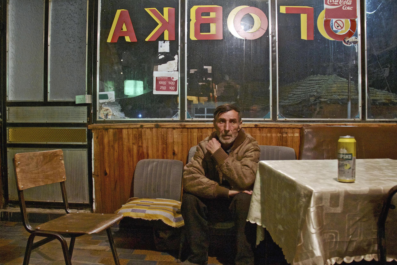 Trajce, l'un des Macédoniens dont les enfants ont quitté le pays.