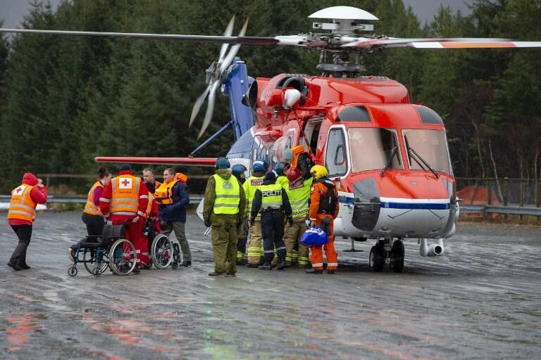 Nearly 500 passengers were taken by helicopters from the stricken cruiser to the Norwegian mainland.