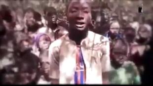 Daliban makarantar sakandaren Kankara dake jihar Katsina cikin hoton bidiyon da kungiyar Boko Haram ta yada