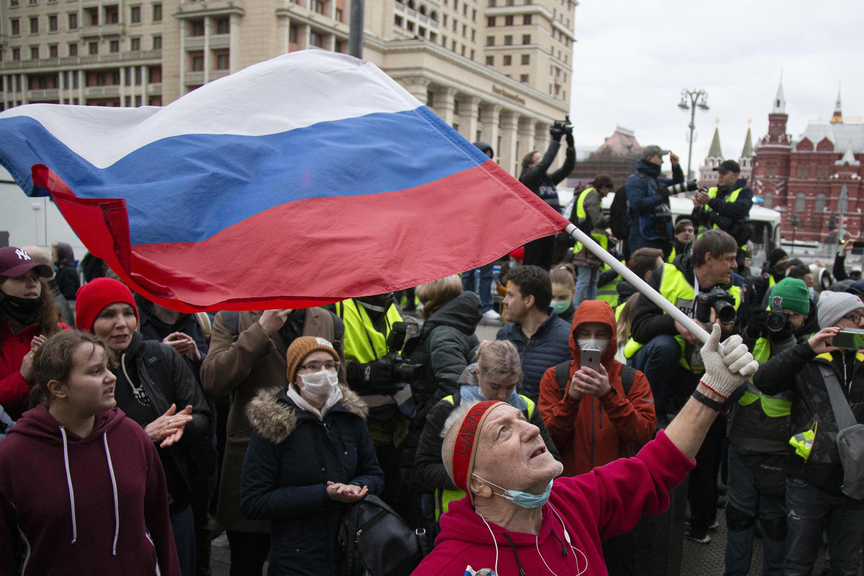 Акция в поддержку Навального 21 апреля в Москве оказалась одной из самых мирных в российской столице за последние годы