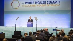 Tổng thống Obama phát biểu tại hội nghị, Washington, ngày 19/02/2015.