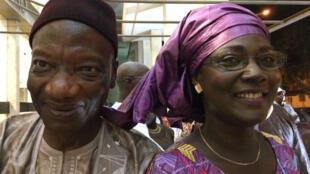 Saliou Mbaye, président du colloque et Marthe Ndiaye, documentaliste de la RTS.