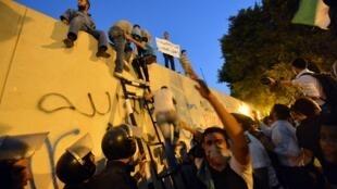 Manifestación contra la embajada de Estados Unidos en El Cairo, el pasado 11 de septiembre.