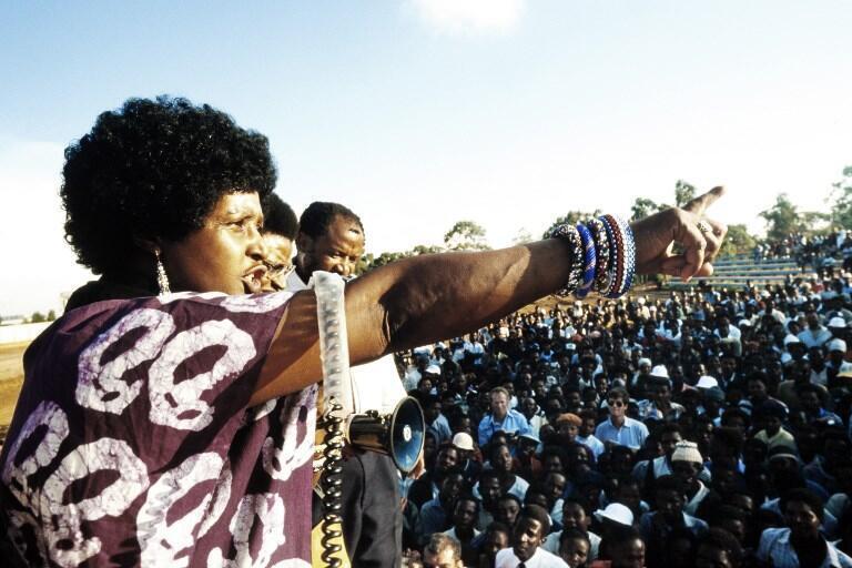 Winnie Mandela, en 1986.