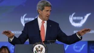 Ngoại trưởng Mỹ John Kerry họp báo ngày 16/06/2014 tại Washington