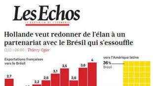 Artigo do jornal Les Echos desta quinta-feira, 12 de dezembro