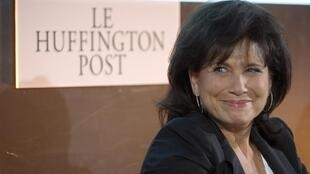 Anne Sinclair, diretora editorial da versão francesa do site americano Huffington Post, em coletiva de imprensa nesta segunda-feira.