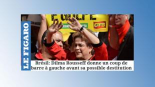 O jornal francês Le Figaro destaca anúncios feitos pela presidente Dilma Rousseff antes da sua possível destituição.