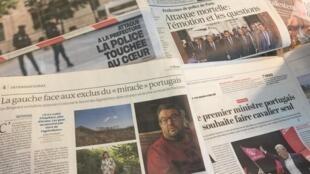 Jornais franceses de 4 de Outubro de 2019.