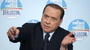 Le chef du gouvernement italien Silvio Berlusconi.