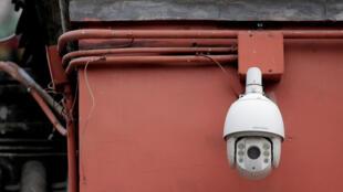 北京鼓樓的監控攝像頭