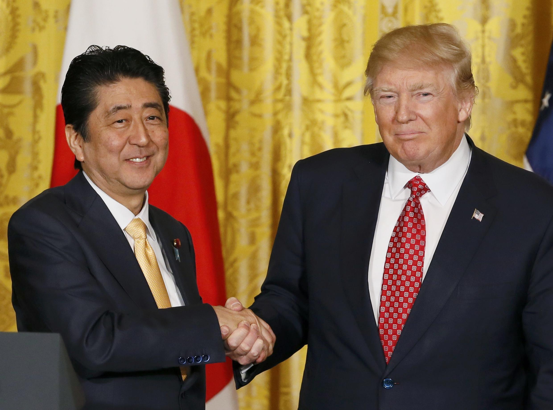 SFiraministan Japan Shinzo Abe tare da Shugaban Amurka Donald Trump