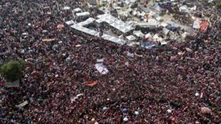 La emblemática plaza Tahrir.