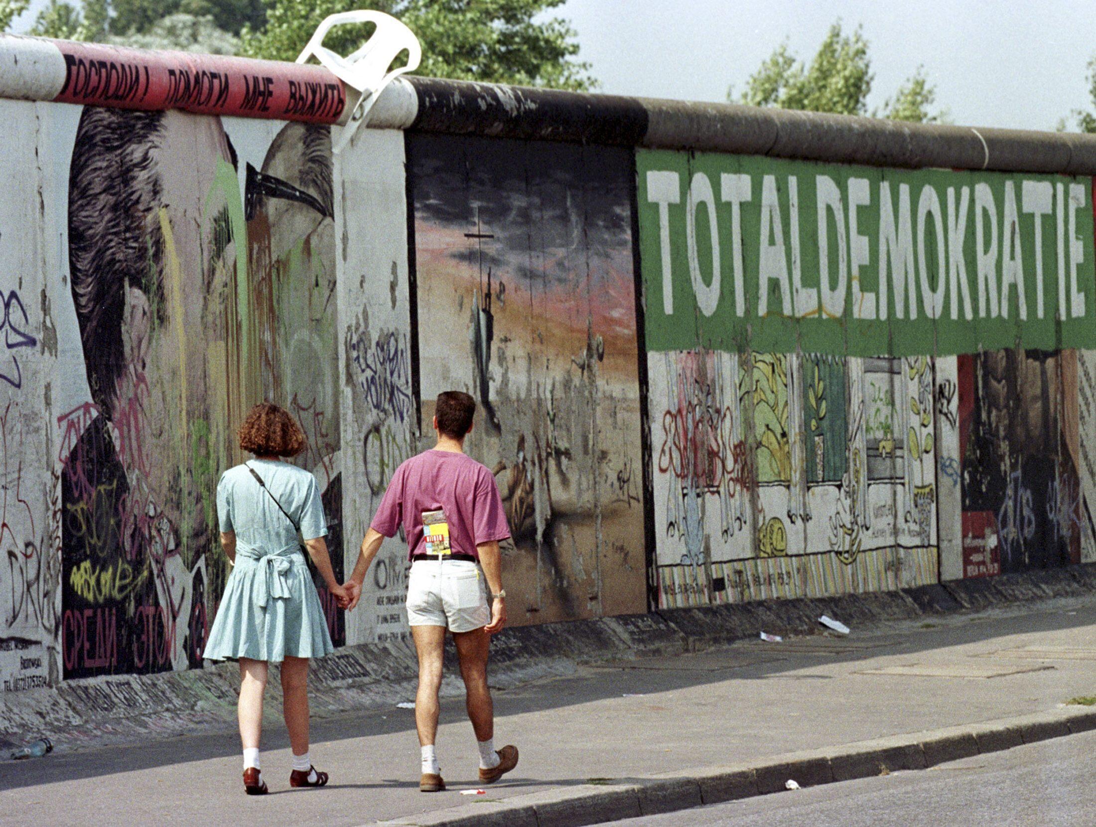 L'«Eastside Gallery», vestige d'1,3 kilomètre du Mur de Berlin