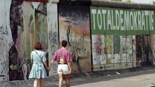 L'« Eastside Gallery », vestige d'1,3 kilomètre du Mur de Berlin.