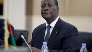 Alassane Ouattara, chef de l'Etat ivoirien, président en exercice de la Cédeao.