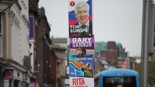 European election posters in central Dublin.