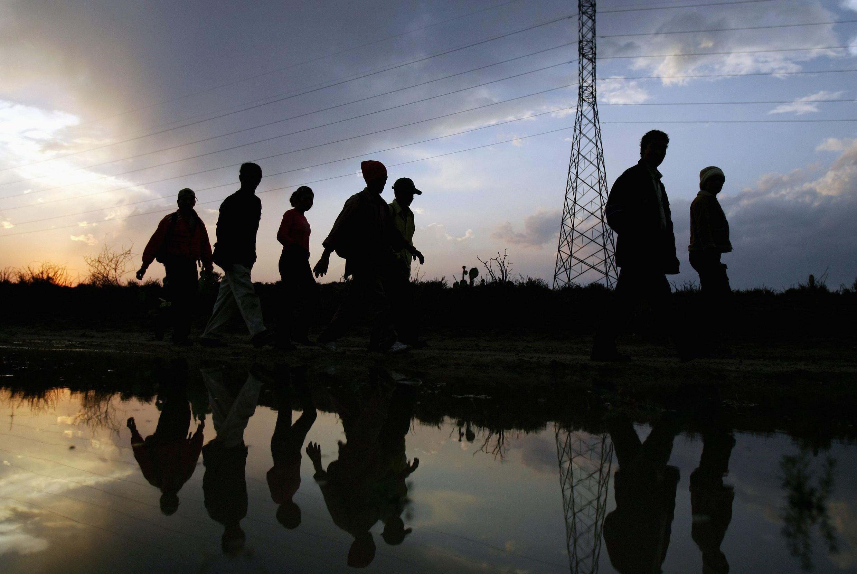 Les immigrants sont de moins en moins nombreux à franchir illégalement la frontière, comme ici, à Laredo, en mai 2006.