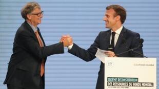 بیل گیتس یکی از حاضران در همایش دو روزه بنیاد مبارزه با سل، مالاریا و ایدز در شهر لیون در فرانسه بود.