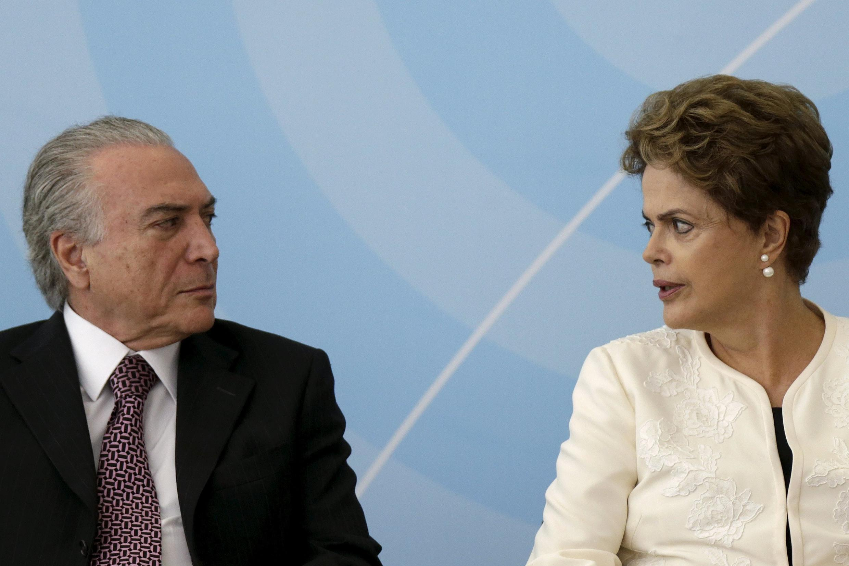 Michel Temer e Dilma Rousseff em Brasília no dia 24 de novembro de 2015.