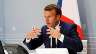 O  Presidente  Emmanuel Macron