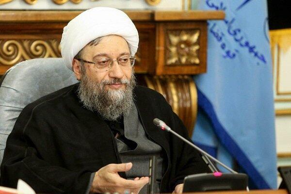 آیت الله صادق آملی لاریجانی، رئیس مجمع تشخیص مصلحت نظام.